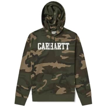 Carhartt WIP Hooded College Sweatshirt - Camo