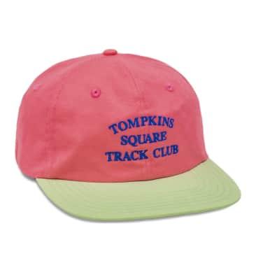 Quartersnacks Tomkins Track Club Cap - Hot Pink / Light Green