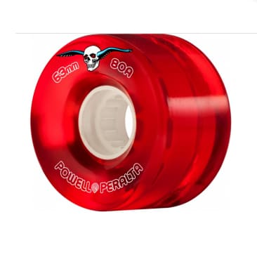 Powell Peralta Clear Cruiser Wheels 80a Red 55mm / 59mm / 63mm