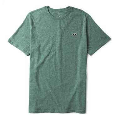 Habitat Skateboards Raccoon Embroidered T-Shirt - Aqua Heather