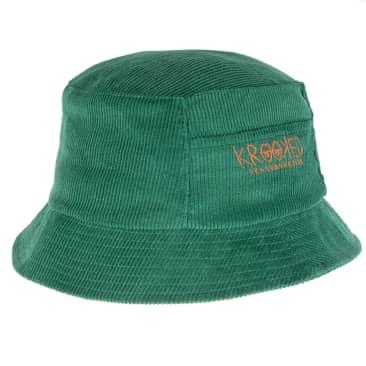 Krooked Eyes Bucket Hat - Green Corduroy