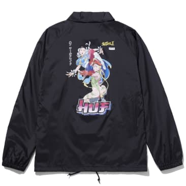 HUF x Street Fighter Chun-Li & Cammy Coach Jacket - Black