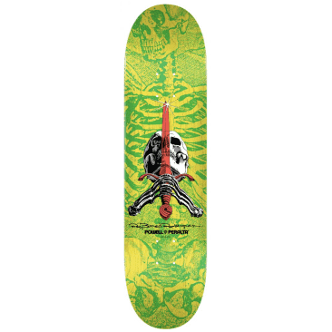 Powell Peralta Deck Skull & Sword Shape 244 Yellow 8.5""