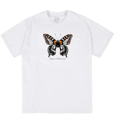 Magenta Butterfly T-Shirt - White