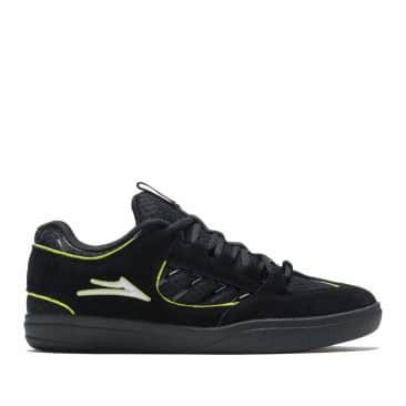 Lakai Carroll Suede Skate Shoes - Black / Neon