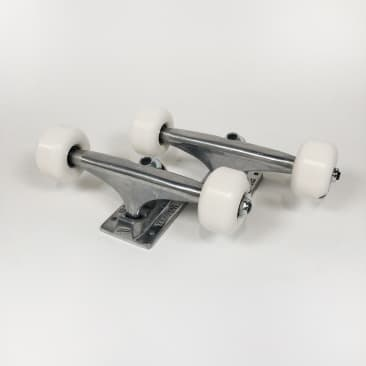 Tensor / Enjoi Undercarriage Kit - (Pair) 5.25 Tensor Alloys Skateboard Trucks - Raw and 52mm Panda Wheels