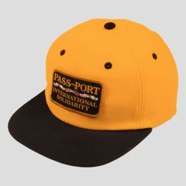 Pass~Port Inter Solid Patch Cap - Gold / Black