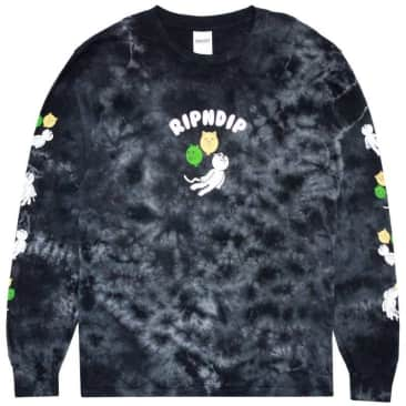 Ripndip Drifting Away Long Sleeve T-Shirt - Black Lightning Wash