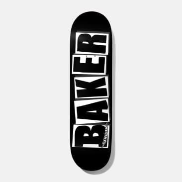 """Baker Skateboards Brand Logo Black / White Skateboard Deck - 8.475"""""""