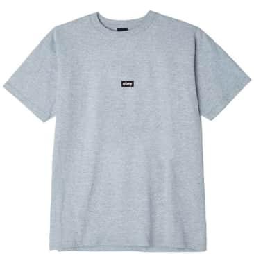 OBEY Black Bar Classic T-Shirt - Heather Grey