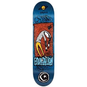 """Foundation Servold Planet Saturn Skateboard Deck 8"""""""