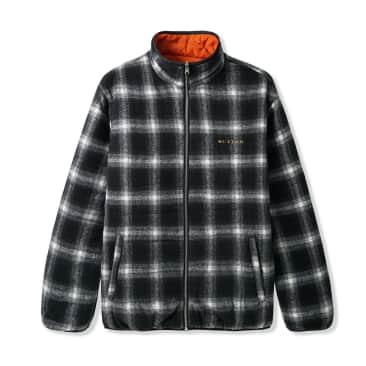 Butter Goods Shadow Plaid Reversible Jacket - Black / Orange