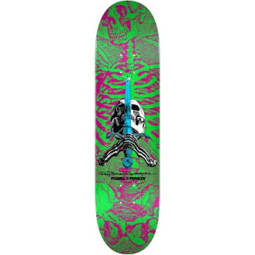 Powell Peralta Skull & Sword Deck - Pink Green 8.0