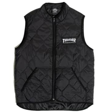Thrasher Magazine Logo Quilted Vest - Black