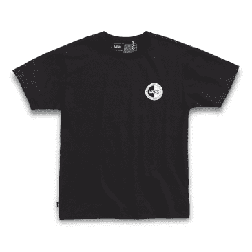 VANS OFF THE WALL SLANTED CHECKER CLASSIC TEE - BLACK