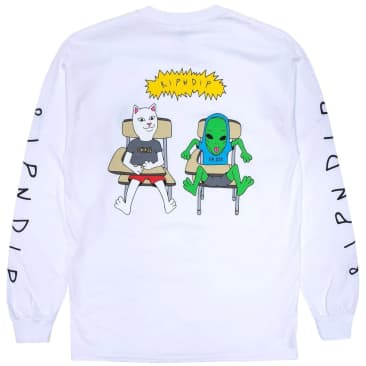 Ripndip Butts Up Long Sleeve T-Shirt - White