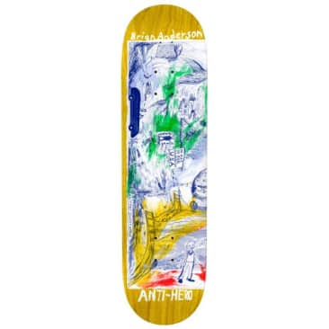 "Anti Hero Skateboards Brian Anderson SF ""Then And Now"" Skateboard Deck - 8.5"