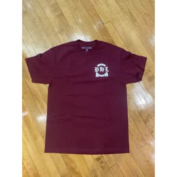 Nocturnal PHL Distro Tee (Burgundy/White)