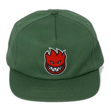 Spitfire Bighead Fill Snapback Hat Dark Green/Red