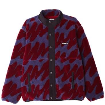 OBEY Hense Sherpa Fleece Jacket - Purple Multi