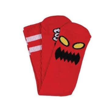 Toy Machine Monster Face Crew Socks - Red