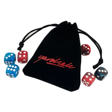Yardsale Gemini Dice and Pouch Red/Blue/Black