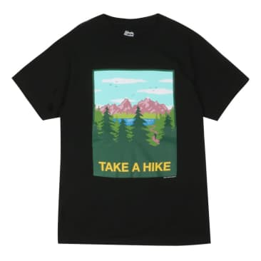 SKATEMENTAL TAKE A HIKE TEE - BLACK
