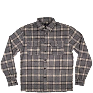 Pass~Port Workers Flannel Long Sleeve Shirt - Gray