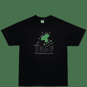 Frog My Brain Is Fried T-Shirt - Black