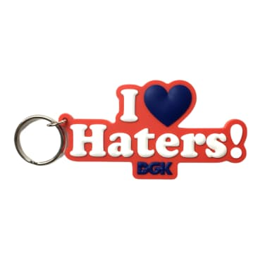 DGK I Love Haters Keychain Red/White
