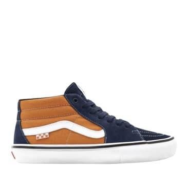 Vans Skate Grosso Mid Shoes - Navy / Orange