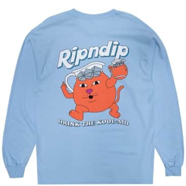 Ripndip Drink Me Long Sleeve T-Shirt - Light Blue