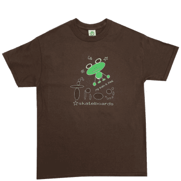 Frog My Brain Is Fried T-Shirt - Brown