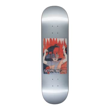 Fucking Awesome Tiger Holographic Silver Deck - 8.5""