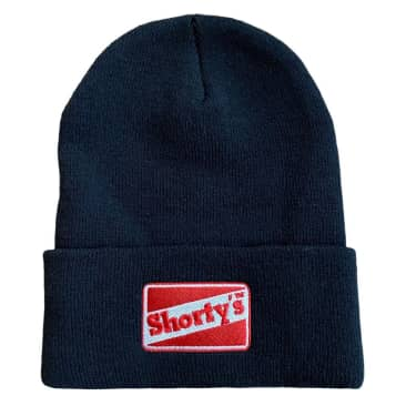 Shortys Beanie Embroidered Black