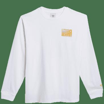 adidas Skateboarding O'Meally NYC Architecture Long Sleeve T-Shirt - White