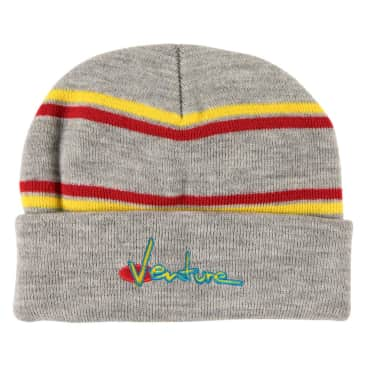 Venture 90s Cuff Beanie Grey/Yellow/Red