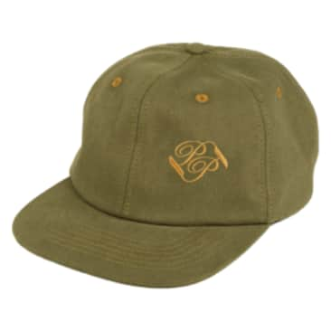Pass~Port Banner 6 Panel Hat - Olive