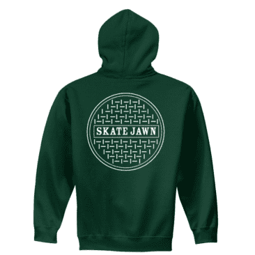 Skate Jawn Sewer Cap Hoodie - Forest Green