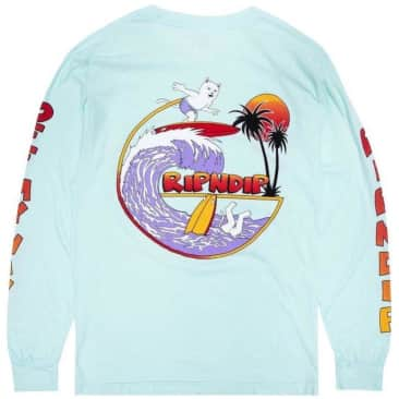 Ripndip Off My Wave Long Sleeve T-Shirt - Aqua