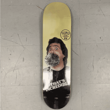 Scumco and Sons Skateboards Cigarette Mouth Deck 8.5