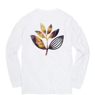 Magenta Skateboards Da Vinci Long Sleeve T-Shirt - White