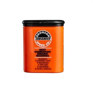 Bronson Speed Co Ceramic Skateboard Bearings - Orange