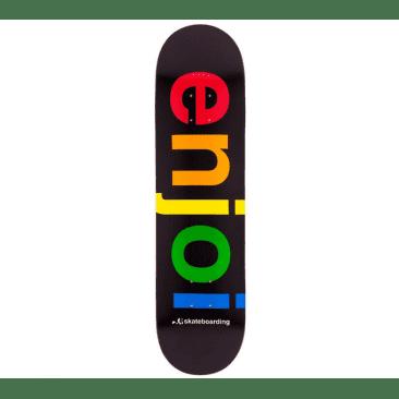 Enjoi Skateboards Spectrum Black Skateboard Deck - 8.25