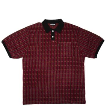 Pass~Port Tilde Knitted Polo Shirt - Red