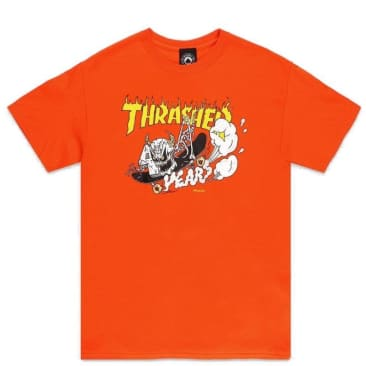 Thrasher 40 Years Neckface T-Shirt - Orange