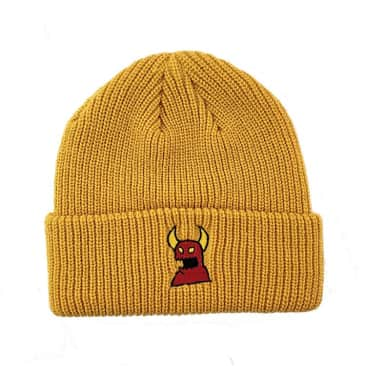 Sketch Monster Beanie (Mustard)