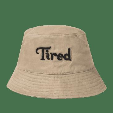 Tired Logo Bucket Hat - Khaki