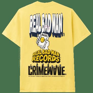 Real Bad Man The Big Three T-Shirt - Butter Yellow