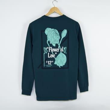 Numbers Edition - Flower of Love Longsleeve T-Shirt - Deep Teal